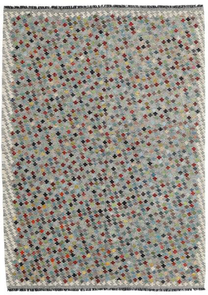 Kelim Afghan Old Style Matto 169X234 Itämainen Käsinkudottu Vaaleanharmaa/Tummanharmaa (Villa, Afganistan)