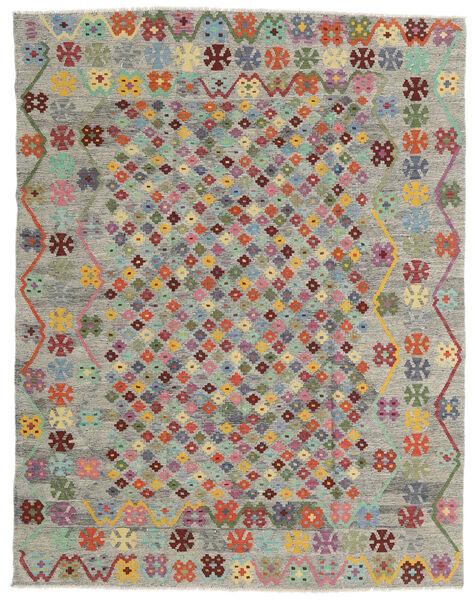 Kelim Afghan Old Style Matto 185X236 Itämainen Käsinkudottu Vaaleanharmaa/Ruskea (Villa, Afganistan)