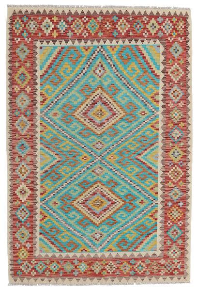 Kelim Afghan Old Style Matto 156X229 Itämainen Käsinkudottu Tummanpunainen/Vaaleanharmaa (Villa, Afganistan)