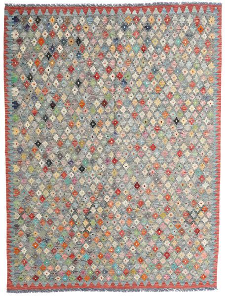 Kelim Afghan Old Style Matto 182X236 Itämainen Käsinkudottu Tummanharmaa/Vaaleanharmaa (Villa, Afganistan)