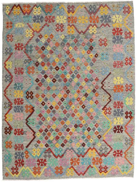 Kelim Afghan Old Style Matto 185X245 Itämainen Käsinkudottu Vaaleanharmaa/Tummanharmaa (Villa, Afganistan)