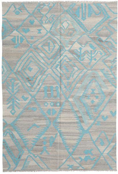 Kelim Moderni Matto 200X294 Moderni Käsinkudottu Vaaleanharmaa (Villa, Afganistan)