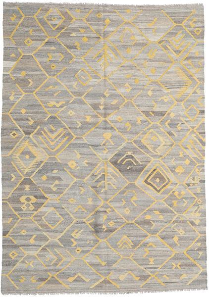 Kelim Ariana Matto 209X290 Moderni Käsinkudottu Vaaleanharmaa/Keltainen (Villa, Afganistan)