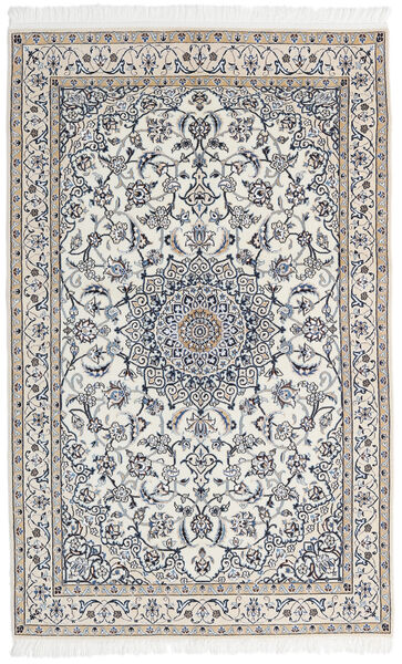 Nain 9La Matto 127X202 Itämainen Käsinsolmittu Vaaleanharmaa/Tummanharmaa/Beige (Villa/Silkki, Persia/Iran)