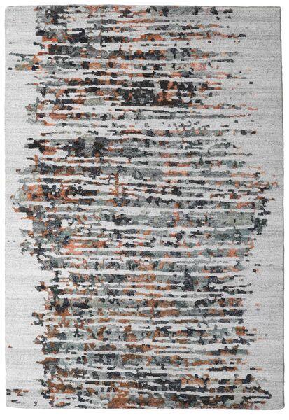 Damask Collection Matto 159X230 Moderni Käsinsolmittu Vaaleanharmaa/Tummanruskea ( Intia)