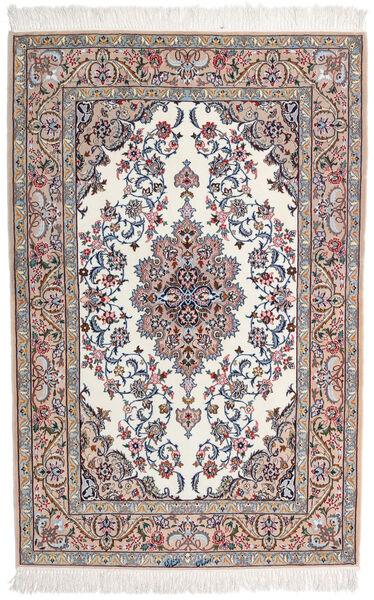 Isfahan Silkkiloimi Allekirjoitettu Intashari Matto 109X166 Itämainen Käsinsolmittu Vaaleanharmaa/Valkoinen/Creme (Villa/Silkki, Persia/Iran)