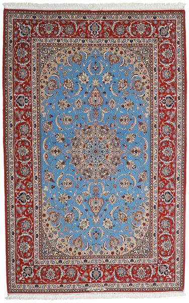 Isfahan Silkkiloimi Matto 164X256 Itämainen Käsinsolmittu Vaaleanharmaa/Tummanruskea (Villa/Silkki, Persia/Iran)