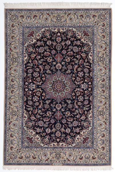 Isfahan Silkkiloimi Matto 160X235 Itämainen Käsinsolmittu Vaaleanharmaa/Tummanvioletti (Villa/Silkki, Persia/Iran)