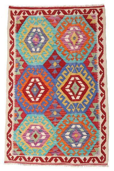 Kelim Afghan Old Style Matto 98X154 Itämainen Käsinkudottu Ruoste/Beige (Villa, Afganistan)