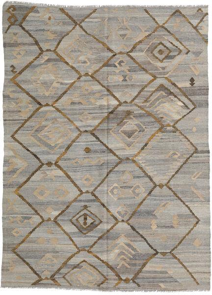 Kelim Ariana Matto 212X285 Moderni Käsinkudottu Vaaleanharmaa (Villa, Afganistan)