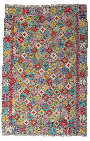 Kelim Afghan Old Style Matto 96X149 Itämainen Käsinkudottu Vaaleanruskea/Vaaleanharmaa (Villa, Afganistan)