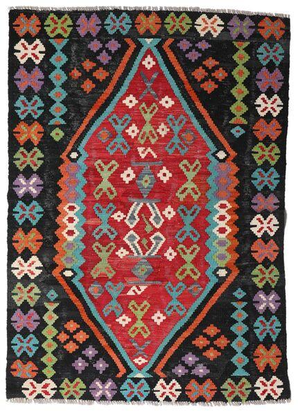 Kelim Afghan Old Style Matto 107X150 Itämainen Käsinkudottu Musta/Ruoste (Villa, Afganistan)