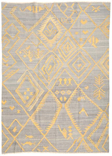 Kelim Ariana Matto 208X287 Moderni Käsinkudottu Vaaleanharmaa/Beige (Villa, Afganistan)