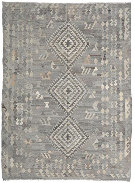 Kelim Ariana Matto 216X285 Moderni Käsinkudottu Vaaleanharmaa/Tummanharmaa (Villa, Afganistan)