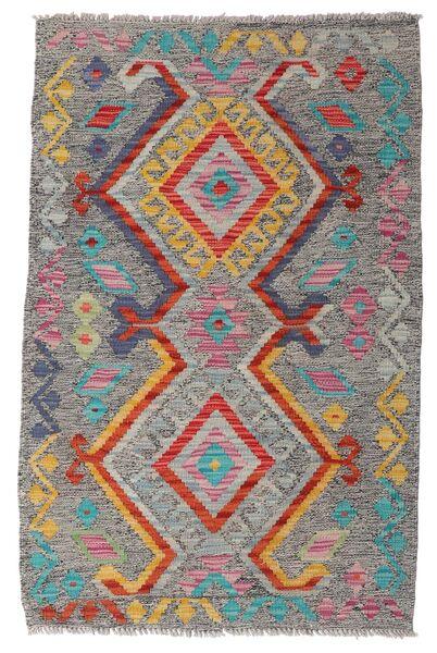 Kelim Afghan Old Style Matto 79X121 Itämainen Käsinkudottu Vaaleanharmaa/Tummanharmaa (Villa, Afganistan)