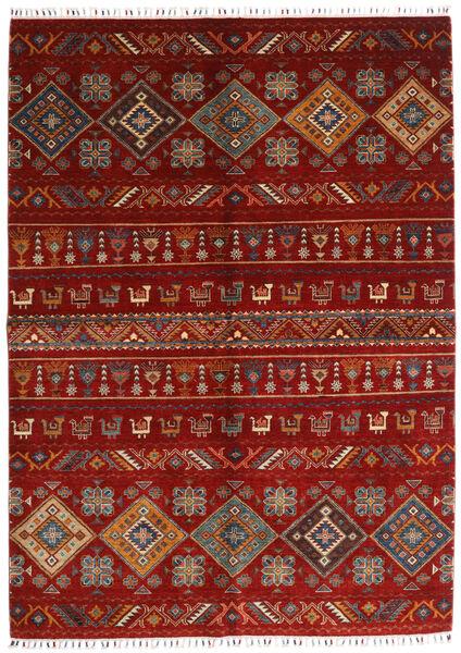 Shabargan Matto 172X237 Moderni Käsinsolmittu Punainen/Tummanpunainen/Ruoste (Villa, Afganistan)