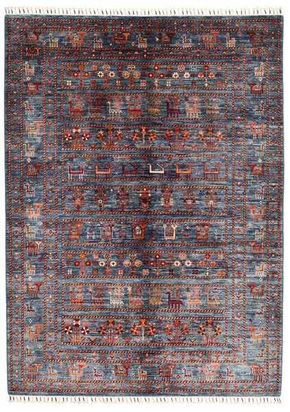 Shabargan Matto 179X244 Moderni Käsinsolmittu Tummanharmaa/Tummanpunainen (Villa, Afganistan)