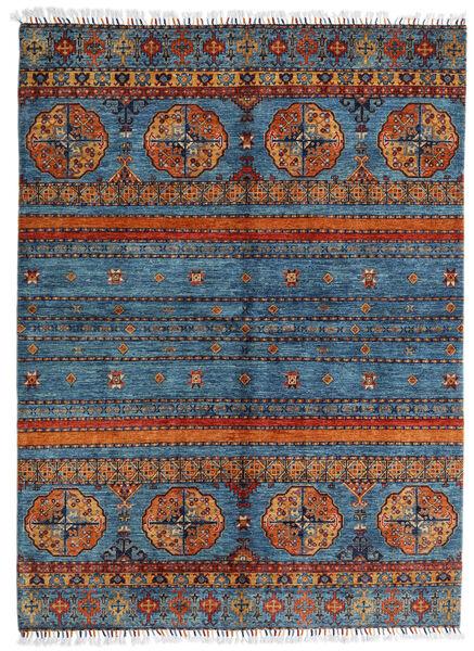 Shabargan Matto 177X240 Moderni Käsinsolmittu Tummanharmaa/Sininen (Villa, Afganistan)