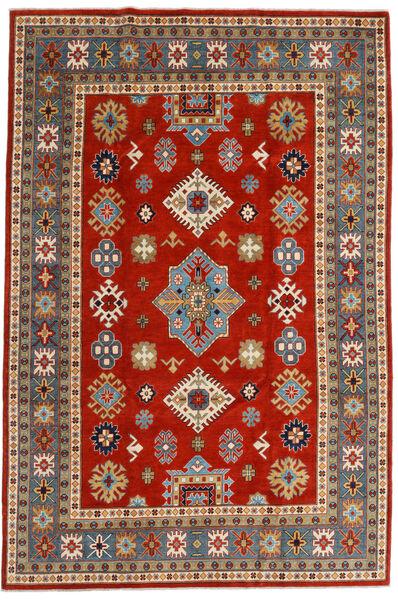 Kazak Matto 203X301 Itämainen Käsinsolmittu Ruoste/Sininen (Villa, Afganistan)