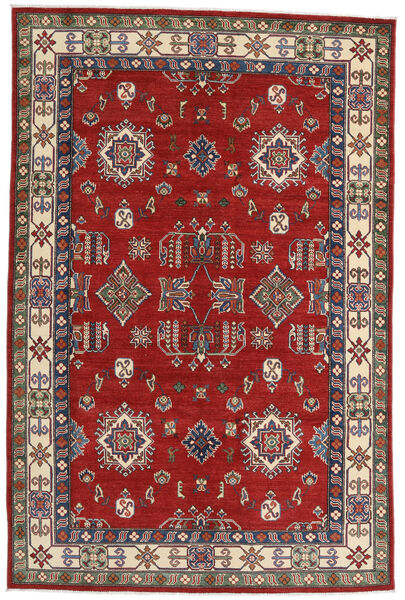 Kazak Matto 182X275 Itämainen Käsinsolmittu Ruoste/Tummanpunainen (Villa, Afganistan)