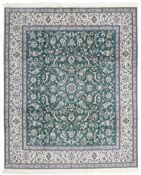 Nain 9La Matto 247X298 Itämainen Käsinsolmittu Vaaleanharmaa/Sininen (Villa/Silkki, Persia/Iran)