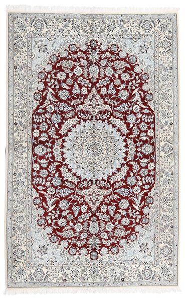 Nain 9La Matto 160X250 Itämainen Käsinsolmittu Vaaleanharmaa/Valkoinen/Creme (Villa/Silkki, Persia/Iran)