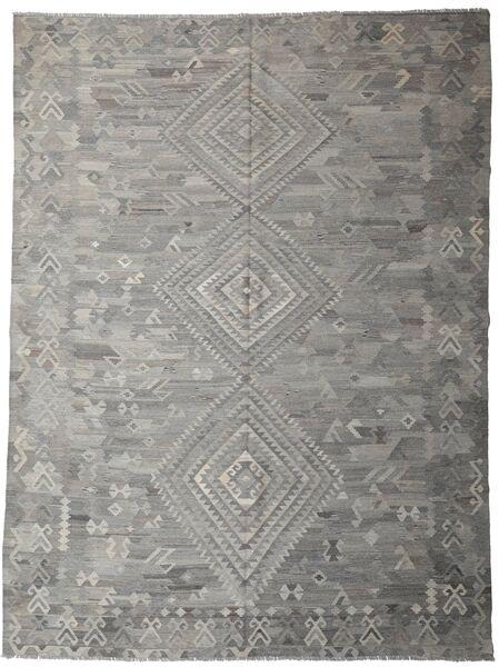 Kelim Ariana Matto 259X344 Moderni Käsinkudottu Vaaleanharmaa/Tummanharmaa Isot (Villa, Afganistan)