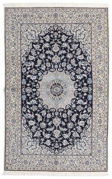 Nain 9La Matto 163X258 Itämainen Käsinsolmittu Vaaleanharmaa/Tummanvioletti (Villa/Silkki, Persia/Iran)