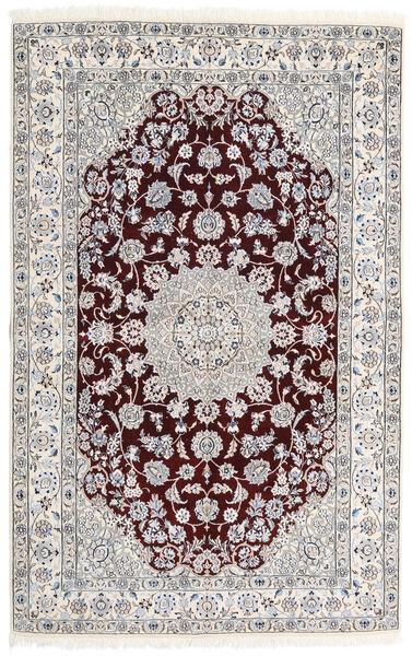 Nain 9La Matto 155X243 Itämainen Käsinsolmittu Beige/Tummanruskea (Villa/Silkki, Persia/Iran)