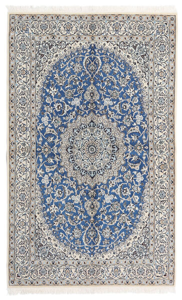 Nain 9La Matto 160X258 Itämainen Käsinsolmittu Vaaleanharmaa/Beige/Sininen (Villa/Silkki, Persia/Iran)