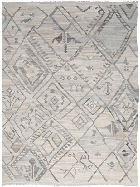 Kelim Ariana Matto 254X345 Moderni Käsinkudottu Vaaleanharmaa Isot (Villa, Afganistan)
