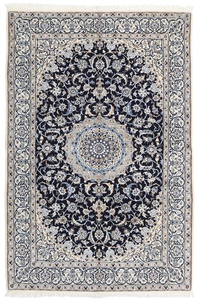 Nain 9La Matto 163X245 Itämainen Käsinsolmittu Vaaleanharmaa/Tummanharmaa (Villa/Silkki, Persia/Iran)