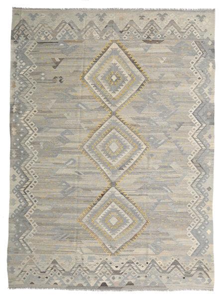Kelim Ariana Matto 254X340 Moderni Käsinkudottu Vaaleanharmaa Isot (Villa, Afganistan)