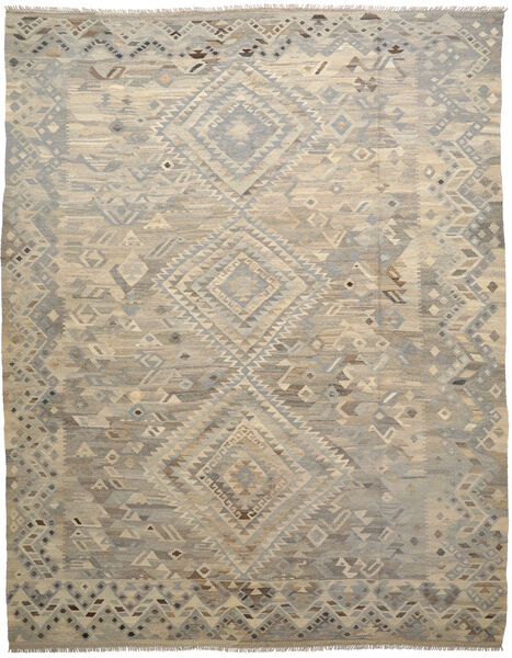 Kelim Ariana Matto 254X340 Moderni Käsinkudottu Vaaleanruskea/Tummanruskea Isot (Villa, Afganistan)