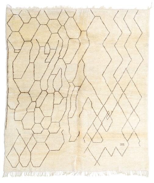 Berber Moroccan - Mid Atlas Matto 257X294 Moderni Käsinsolmittu Beige Isot (Villa, Marokko)