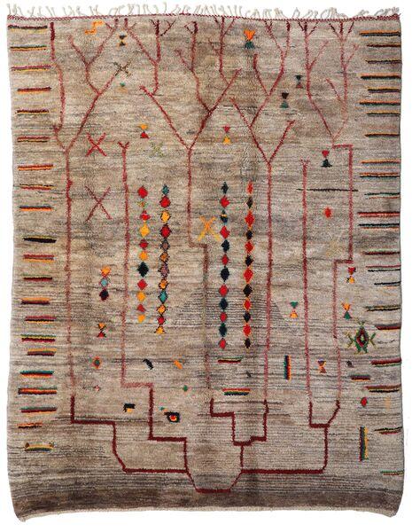 Berber Moroccan - Mid Atlas Matto 234X293 Moderni Käsinsolmittu Vaaleanharmaa/Ruskea (Villa, Marokko)