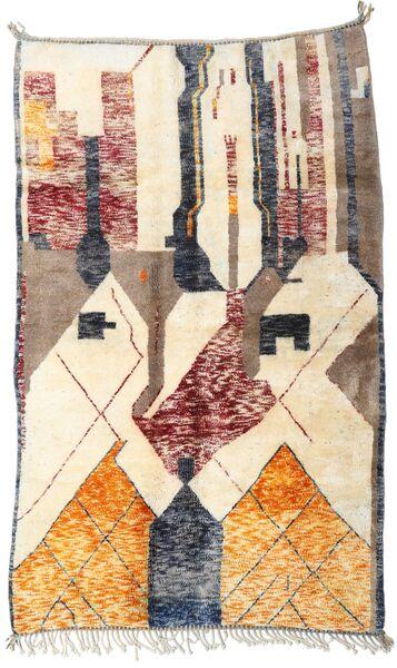 Berber Moroccan - Mid Atlas Matto 169X270 Moderni Käsinsolmittu Beige/Tummanharmaa (Villa, Marokko)