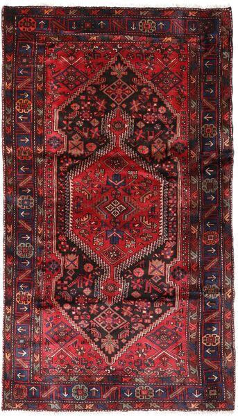 Hamadan Matto 137X240 Itämainen Käsinsolmittu Tummanpunainen/Punainen (Villa, Persia/Iran)