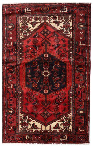 Hamadan Matto 135X214 Itämainen Käsinsolmittu Tummanpunainen (Villa, Persia/Iran)