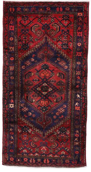 Hamadan Matto 105X206 Itämainen Käsinsolmittu Tummanpunainen/Tummanvioletti (Villa, Persia/Iran)
