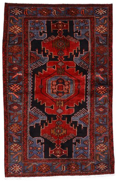 Hamadan Matto 133X209 Itämainen Käsinsolmittu Tummanpunainen/Ruoste (Villa, Persia/Iran)