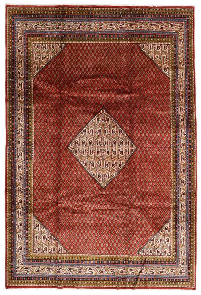 Sarough Mir Matto 209X308 Itämainen Käsinsolmittu Tummanpunainen/Tummanruskea (Villa, Persia/Iran)