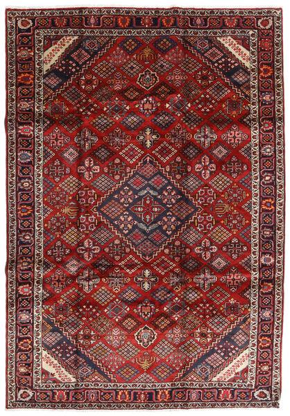 Mashad Matto 207X300 Itämainen Käsinsolmittu Tummanpunainen/Tummanharmaa (Villa, Persia/Iran)