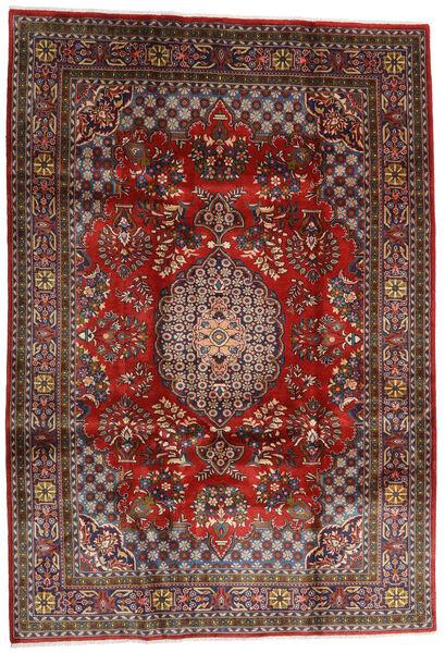 Golpayegan Matto 215X307 Itämainen Käsinsolmittu Tummanpunainen/Musta (Villa, Persia/Iran)