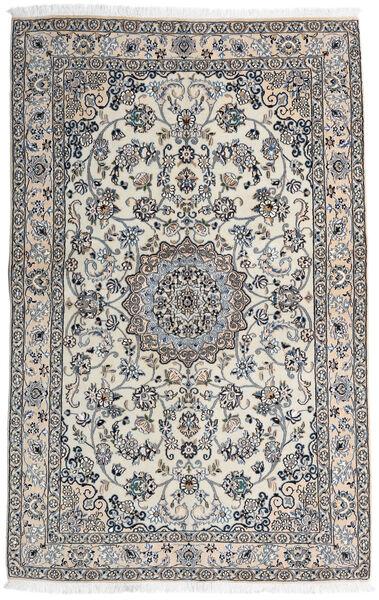 Nain 9La Matto 136X217 Itämainen Käsinsolmittu Vaaleanharmaa/Tummanharmaa (Villa/Silkki, Persia/Iran)