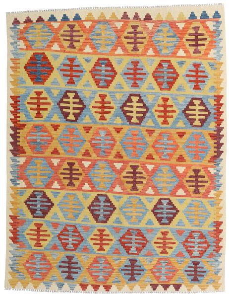 Kelim Afghan Old Style Matto 157X202 Itämainen Käsinkudottu Tummanbeige/Vaaleansininen (Villa, Afganistan)