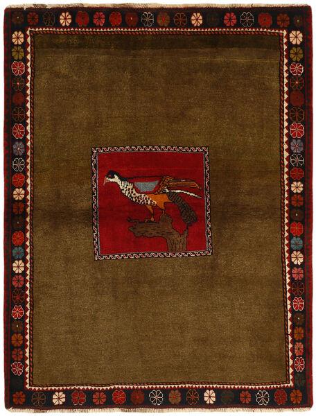Ghashghai Matto 130X170 Itämainen Käsinsolmittu Ruskea/Tummanruskea (Villa, Persia/Iran)