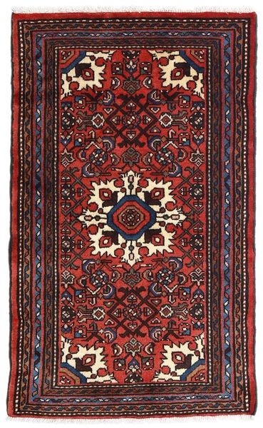 Asadabad Matto 73X121 Itämainen Käsinsolmittu Musta/Tummanpunainen/Ruoste (Villa, Persia/Iran)