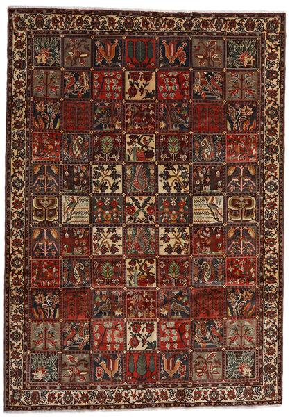 Bakhtiar Matto 225X317 Itämainen Käsinsolmittu Tummanruskea/Tummanpunainen (Villa, Persia/Iran)