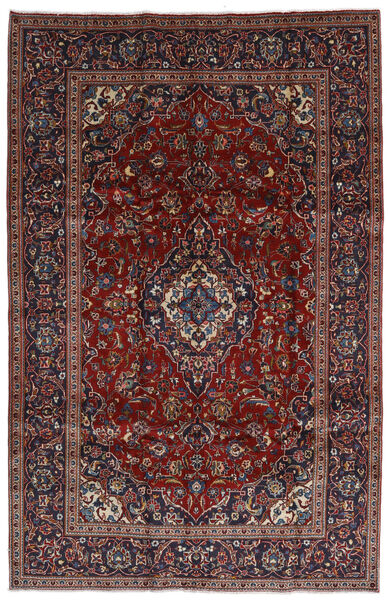 Keshan Matto 197X306 Itämainen Käsinsolmittu Tummanpunainen/Tummanruskea (Villa, Persia/Iran)